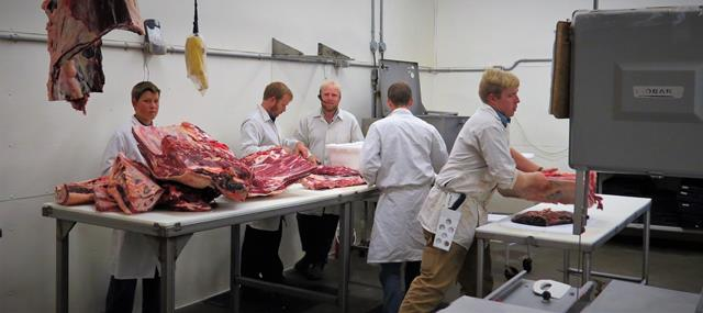 Custom Meat Processing in action at Showalter's Country Meats