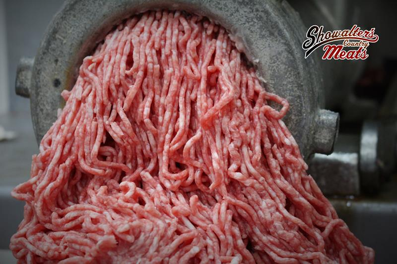Plenty of Ground beef at Showalter's Country Meats