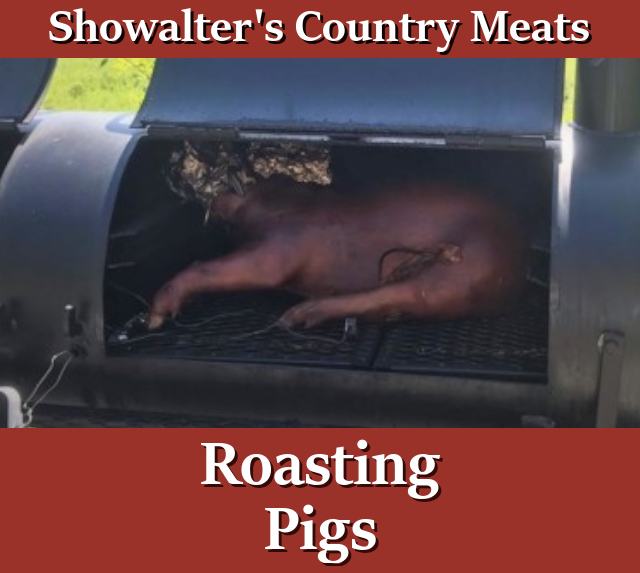 Roasting Pig in Smoker